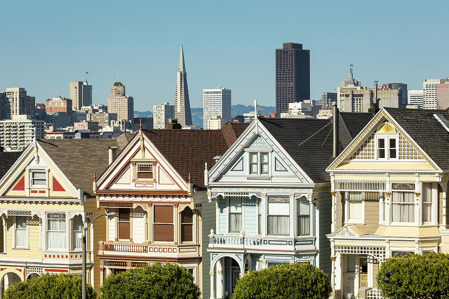 Victorian Style Homes In San Francisco Photograph by Jeffrey Davis