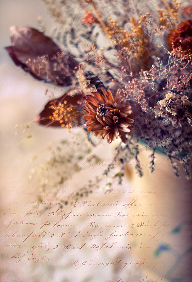 Flowers Photograph - Victorian Treatment by Jessica Jenney