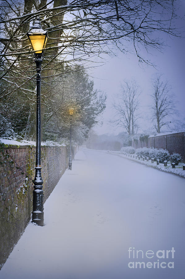 Winter Photograph - Victorian Winter Street Scene by Lee Avison