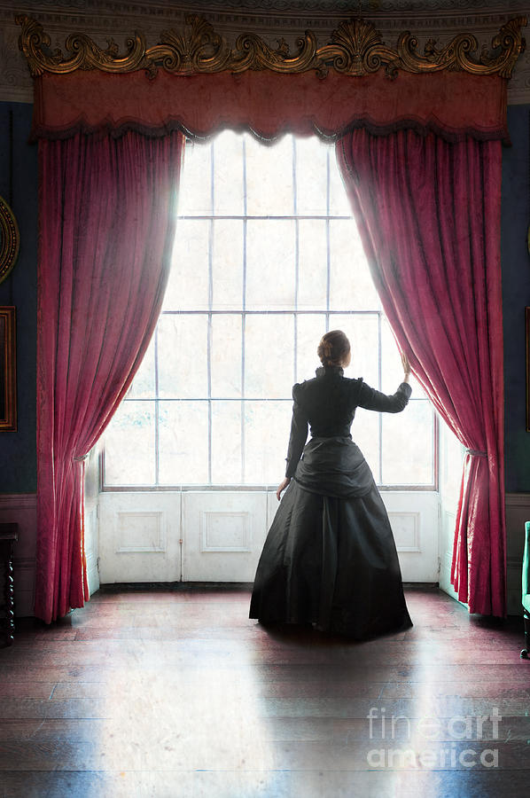 Victorian Woman At The Drawing Room Window Photograph By Lee
