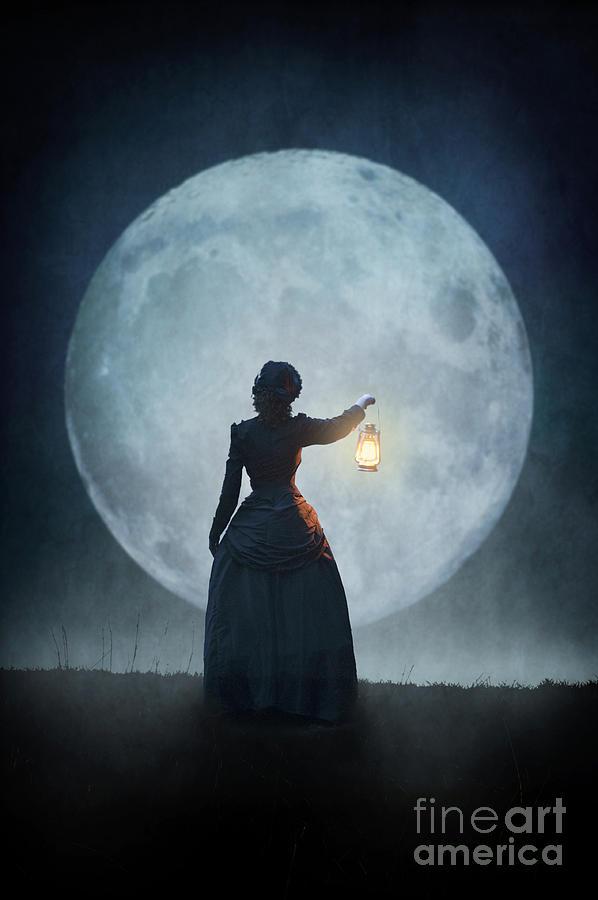 Victorian Woman Holding A Lantern Photograph By Lee Avison
