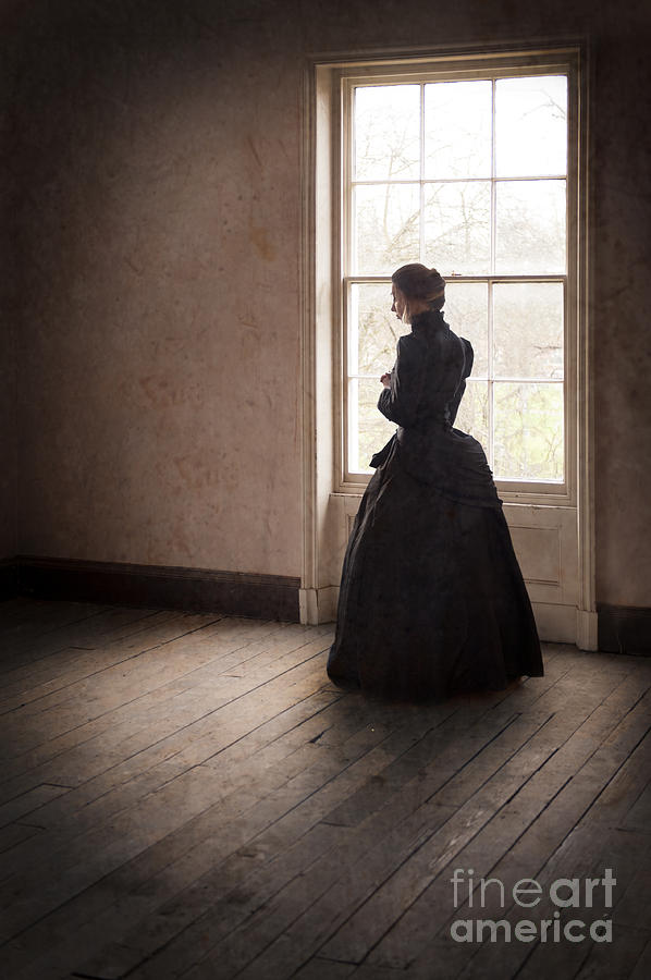 Admirable Victorian Woman In Black In An Empty Room Download Free Architecture Designs Griteanizatbritishbridgeorg