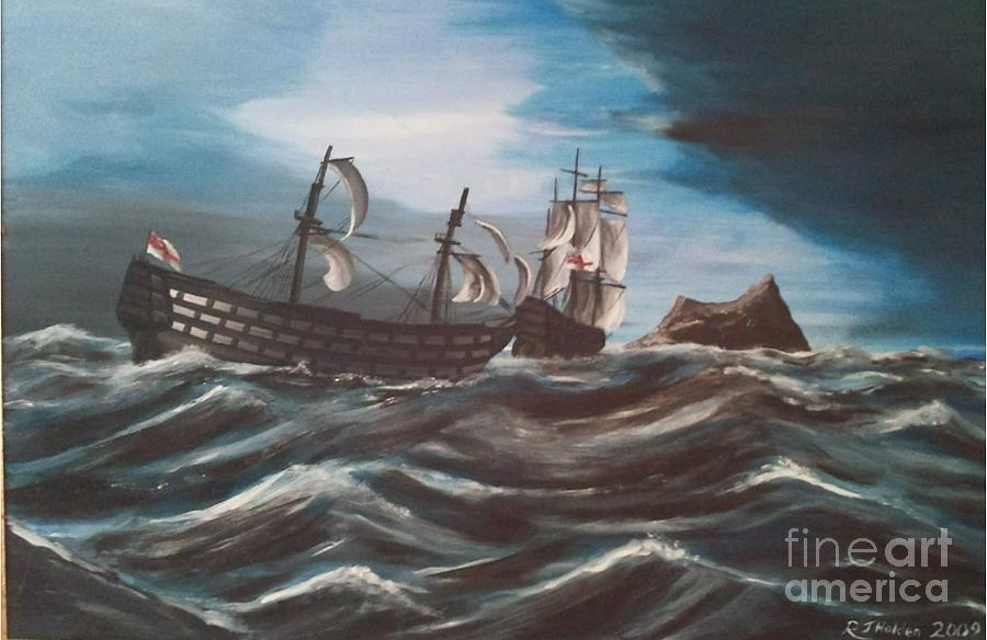Battle Of Trafalgar Painting - Victory At Gibraltar by Richard John Holden RA
