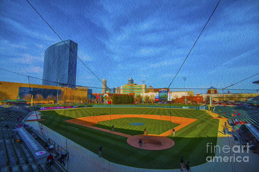 Victory Field Photograph - Victory Field Home Plate by David Haskett