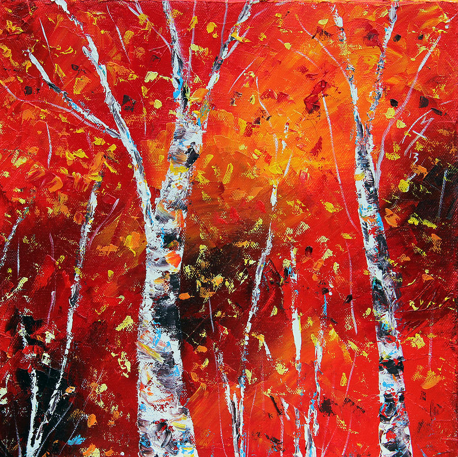 Autumn Painting - Victorys Sacrifice Panel Two by Meaghan Troup