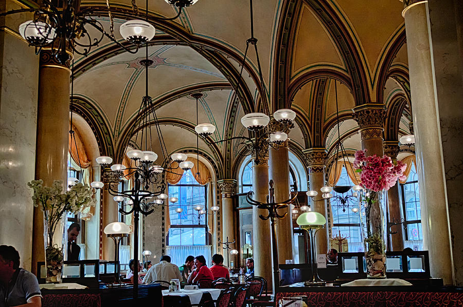 Vienna Photograph - Vienna Central Cafe by Viacheslav Savitskiy