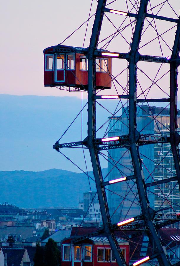 Vienna Photograph - Vienna Ferris Wheel by Viacheslav Savitskiy