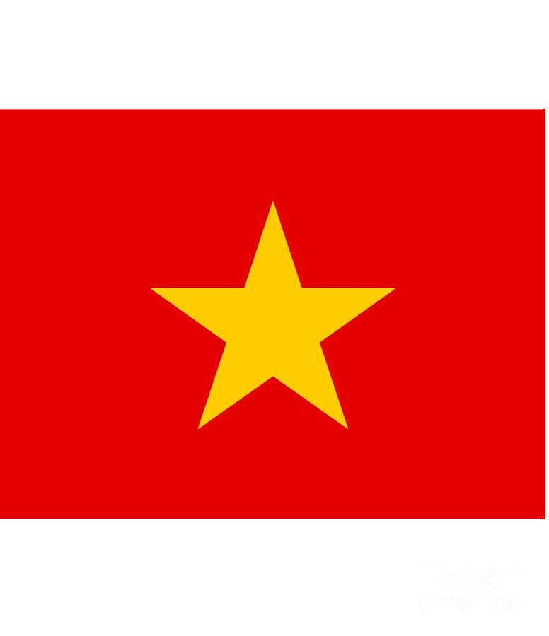 Vietnam Digital Art - Vietnam Flag by Frederick Holiday