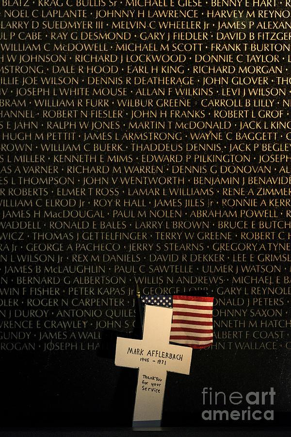 America Photograph - Vietnam Veterans Memorial by John Greim