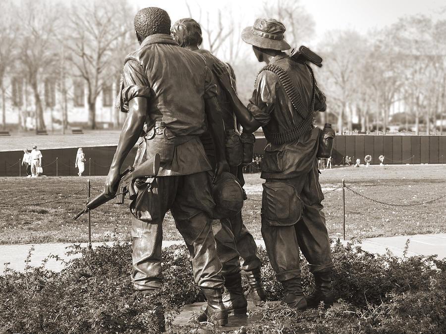 Landmarks Photograph - Vietnam Veterans Memorial - Washington Dc by Mike McGlothlen