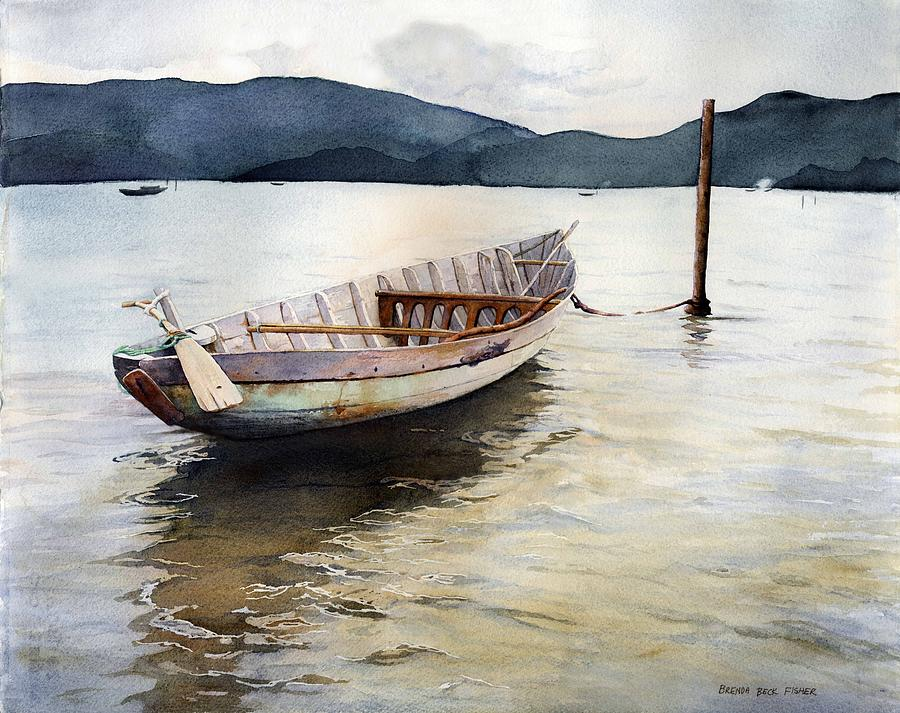 Boat Painting - Vietnam Waters by Brenda Beck Fisher