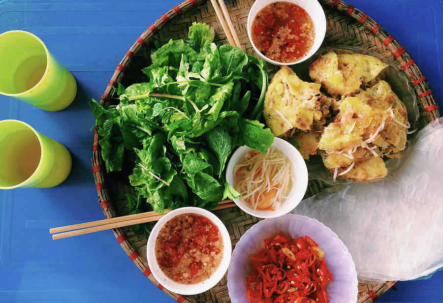 Vietnamese Local Food - Banh Xeo Photograph by Quynh Anh Nguyen