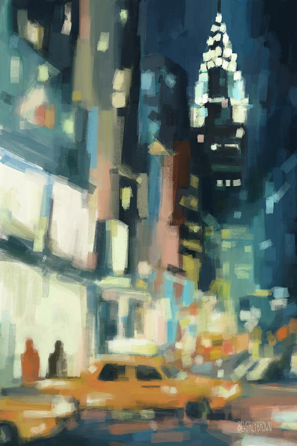 New York Painting - View Across 42nd Street New York City by Beverly Brown