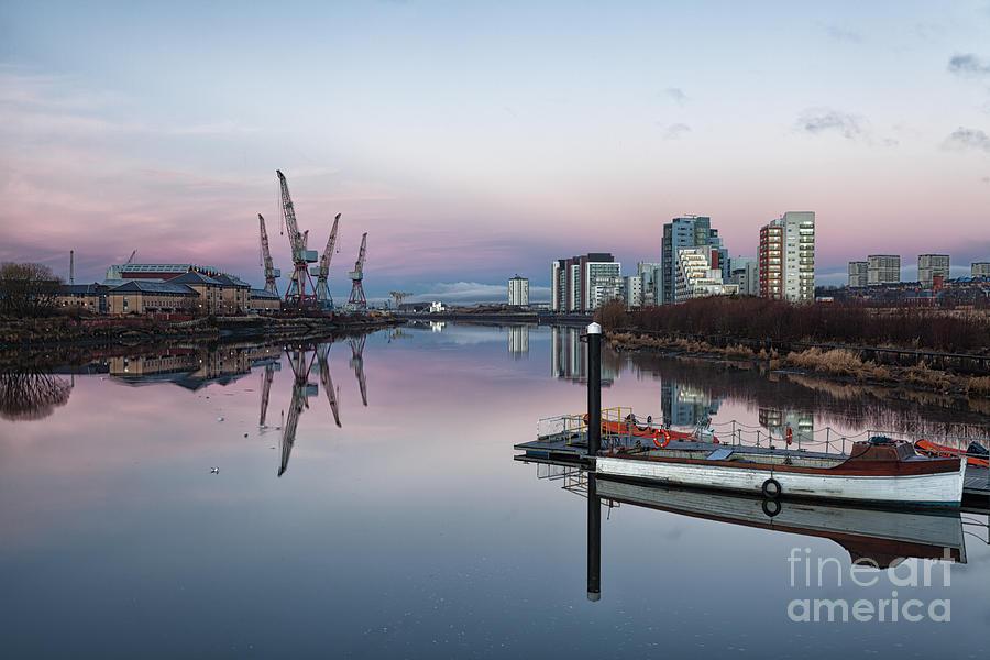 Glasgow Photograph - View Down The Clyde. by John Farnan