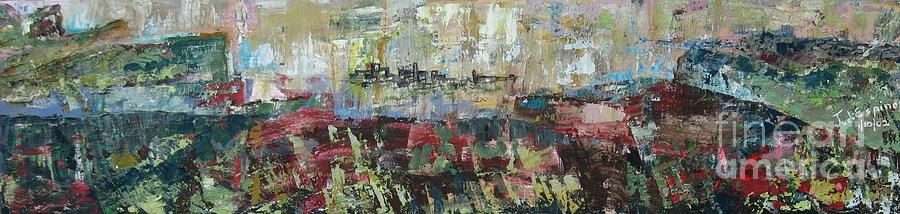 Landscape Painting - View From a Cliff - SOLD by Judith Espinoza