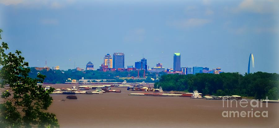 St.louis Missouri Photograph - View From A Far St. Louis Downtown by Peggy Franz