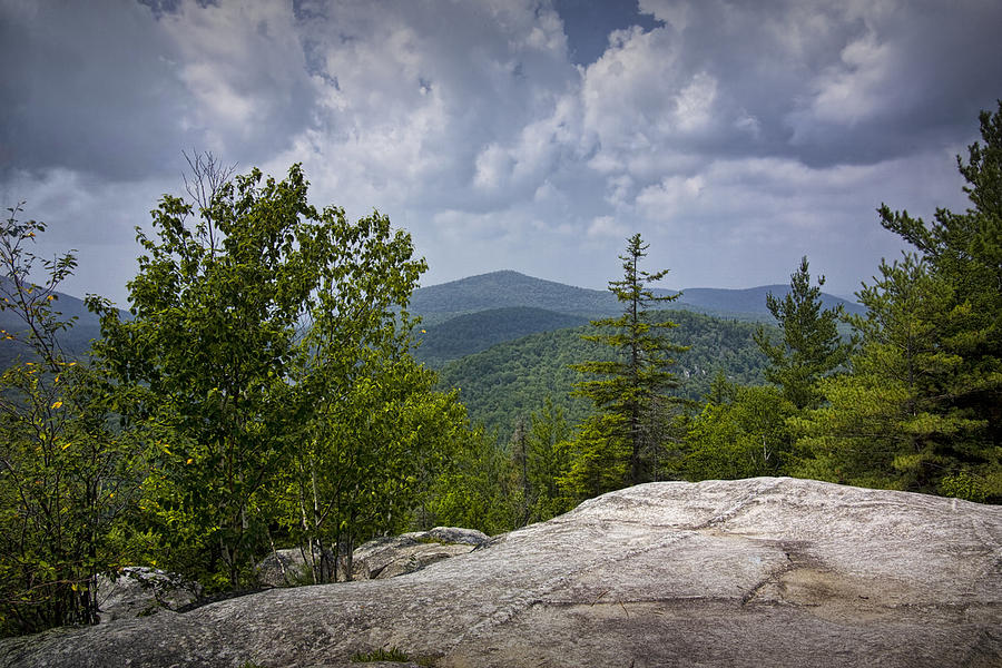Landscape Photograph - View From A Mountain In A Vermont by Randall Nyhof