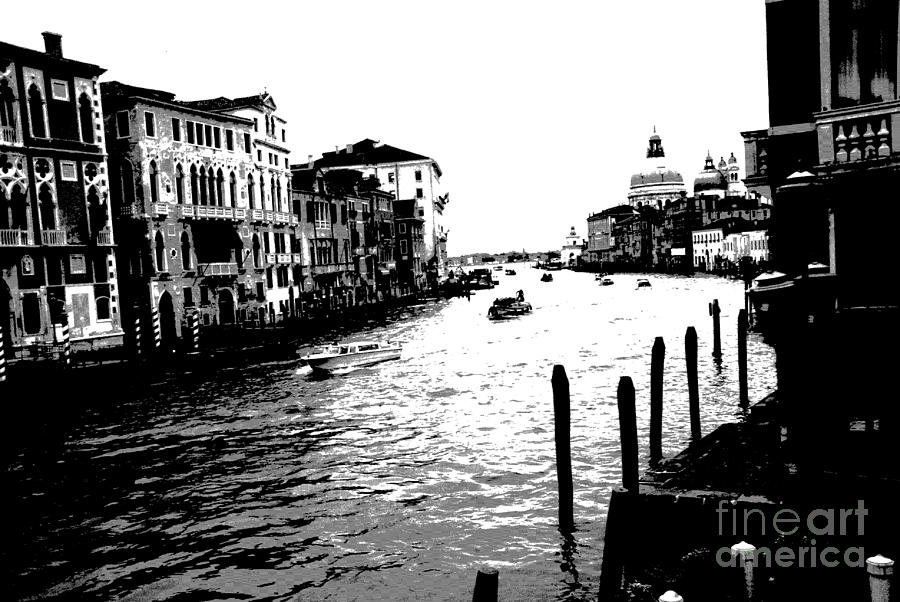 Venice Photograph - View From Accademia Bridge by Jacqueline M Lewis