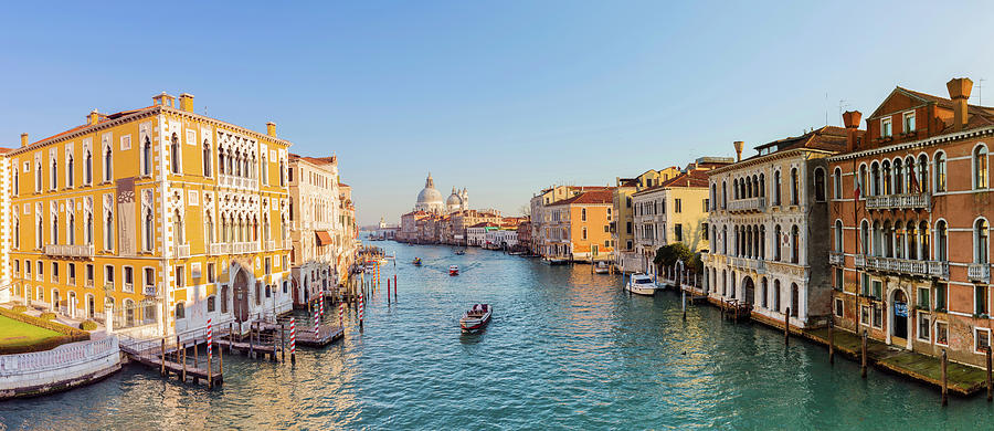 View From Accademia Bridge On Grand Photograph by Dietermeyrl