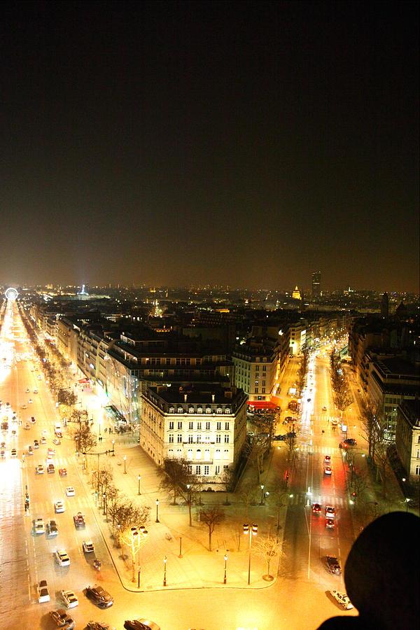 Paris Photograph - View From Arc De Triomphe - Paris France - 01138 by DC Photographer