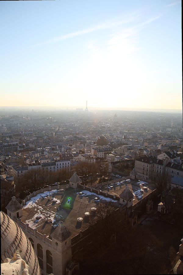 And Photograph - View From Basilica Of The Sacred Heart Of Paris - Sacre Coeur - Paris France - 011312 by DC Photographer