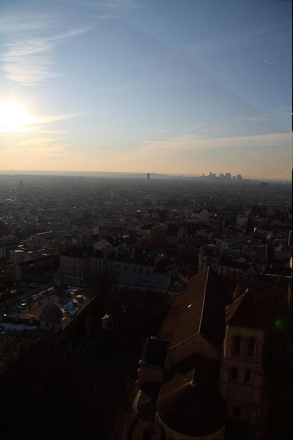 And Photograph - View From Basilica Of The Sacred Heart Of Paris - Sacre Coeur - Paris France - 011315 by DC Photographer