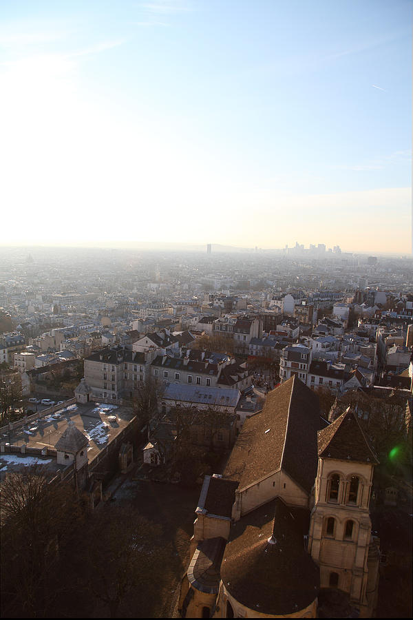 And Photograph - View From Basilica Of The Sacred Heart Of Paris - Sacre Coeur - Paris France - 011316 by DC Photographer