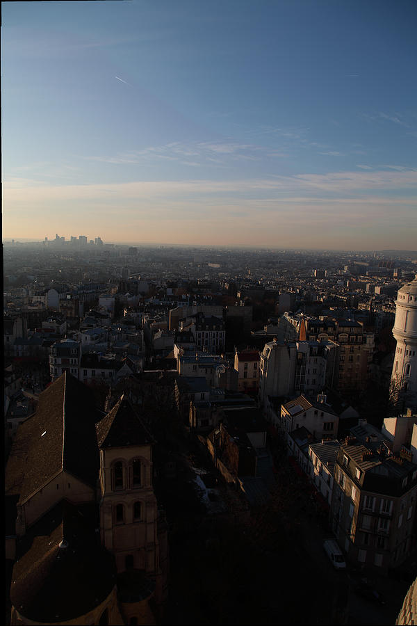 And Photograph - View From Basilica Of The Sacred Heart Of Paris - Sacre Coeur - Paris France - 011319 by DC Photographer