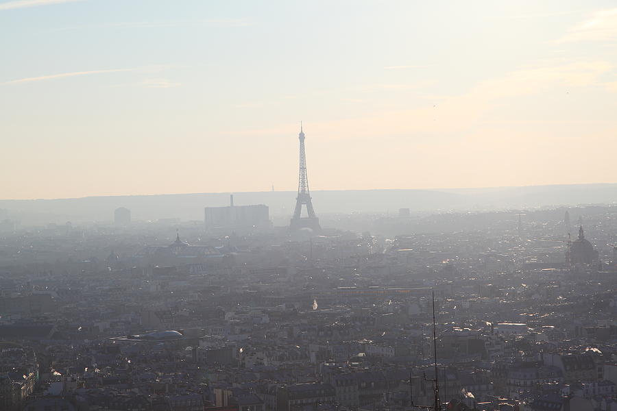 And Photograph - View From Basilica Of The Sacred Heart Of Paris - Sacre Coeur - Paris France - 01137 by DC Photographer