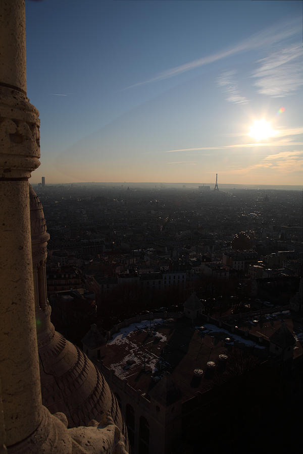 And Photograph - View From Basilica Of The Sacred Heart Of Paris - Sacre Coeur - Paris France - 01139 by DC Photographer