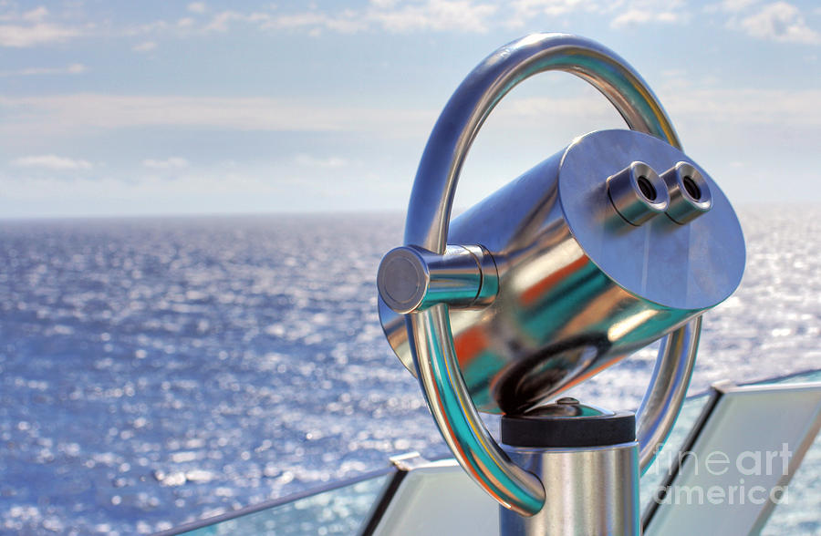 Discovery Photograph - View From Binoculars At Cruise Ship by Lars Ruecker