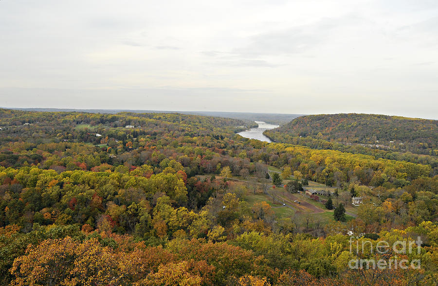 Bucks County Photograph - View From Bowmans Tower North by Addie Hocynec