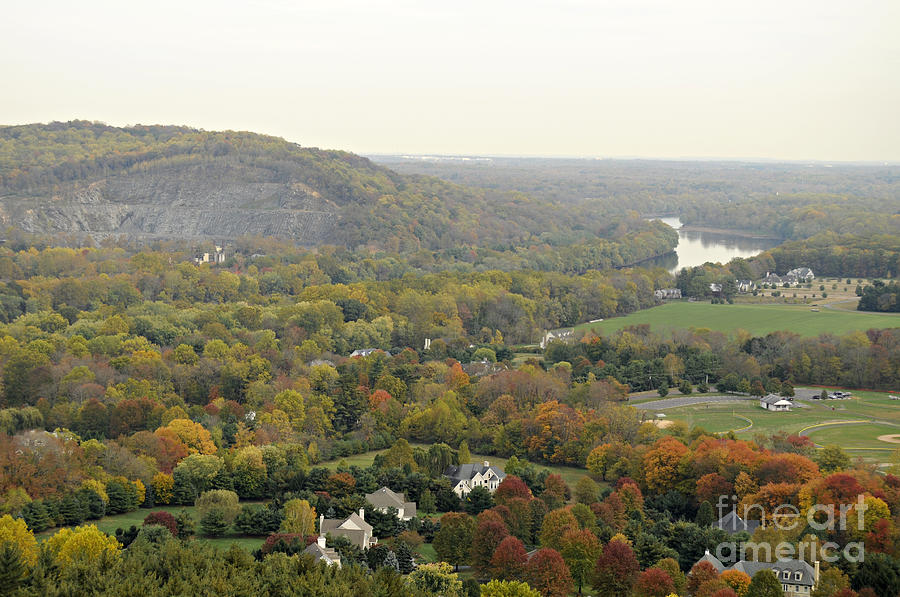 Washington Crossing Park Photograph - View From Bowmans Tower South by Addie Hocynec