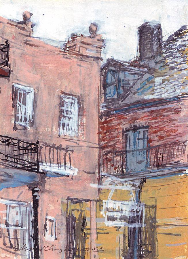 Café Drawing - View From Cafe Du Monde by Edward Ching