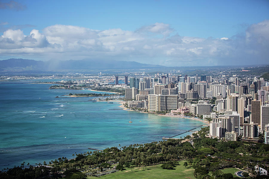 View From Diamond Head Photograph by Dave Fimbres Photography
