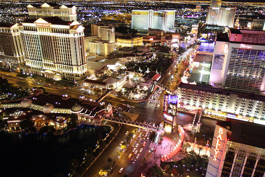 Las Photograph - View From Eiffel Tower In Las Vegas - 01131 by DC Photographer
