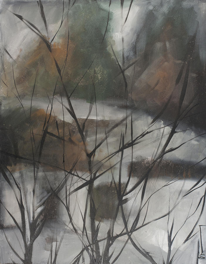 Trees Painting - View From Foggy Window by Tim Nyberg