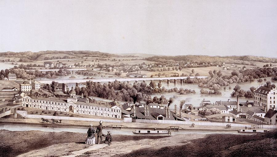 Richmond Drawing - View From Gambles Hill, Richmond by Edward Beyer