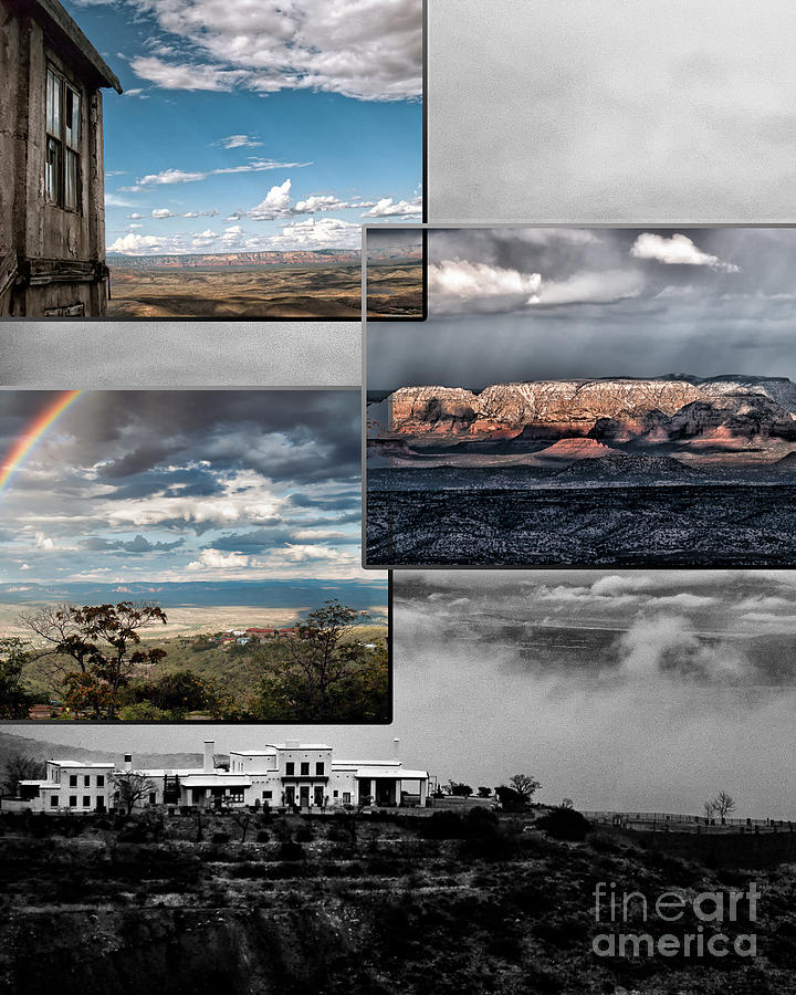 Collages Digital Art - View From Jerome by David Mendoza