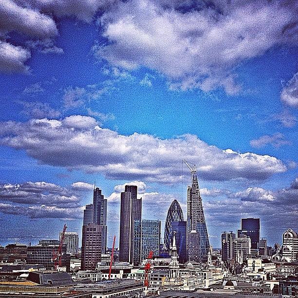 Blue Photograph - View From. #london #skyline #blue by Alex Nisbett