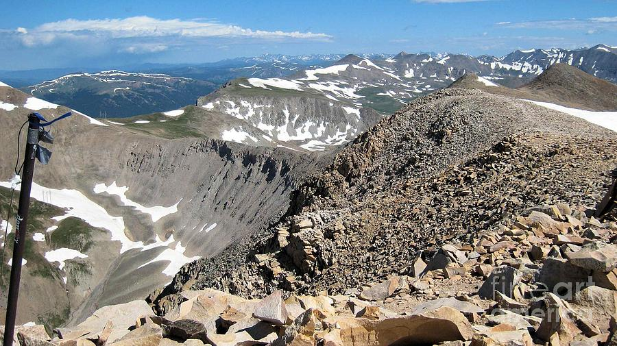 Nature Photograph - View From Mt Sherman Summit by Claudette Bujold-Poirier