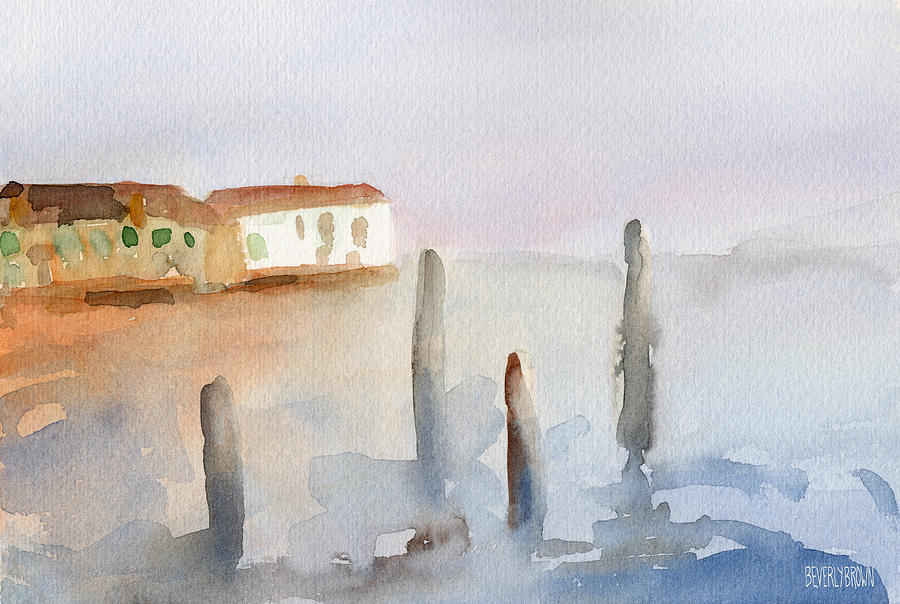 Venice Painting - View from Murano Watercolor Painting of Venice by Beverly Brown Prints