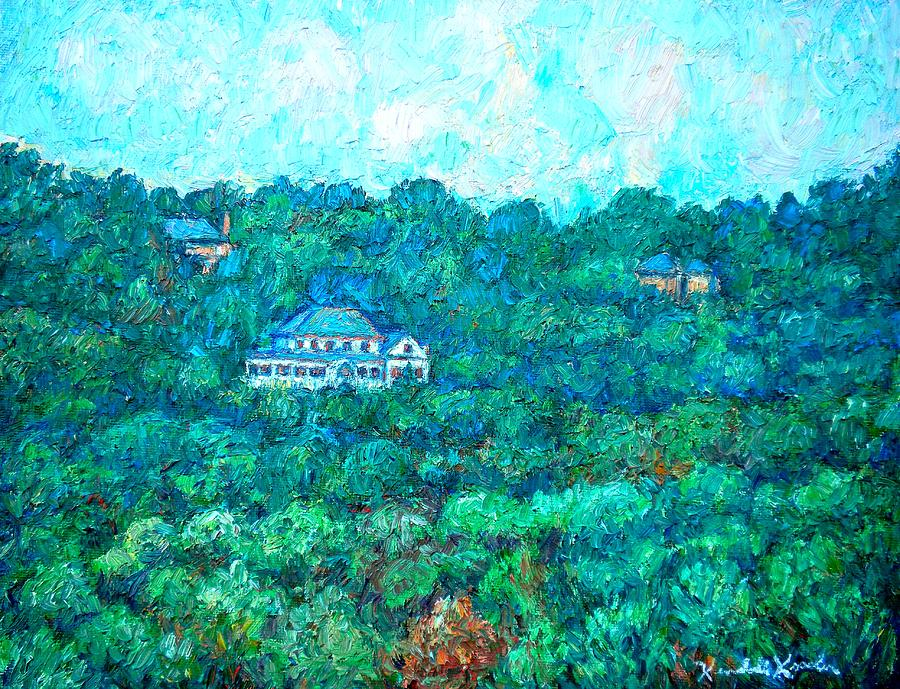 Mountains Painting - View From Rec Center by Kendall Kessler