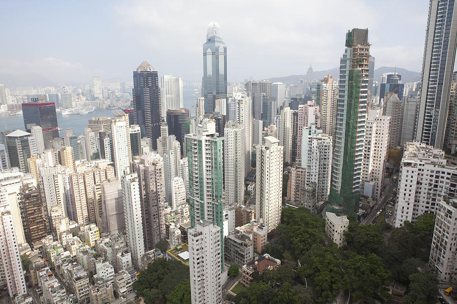 View From Skyscrapers, Hong Kong, China Photograph by Cultura Rf/nancy Honey