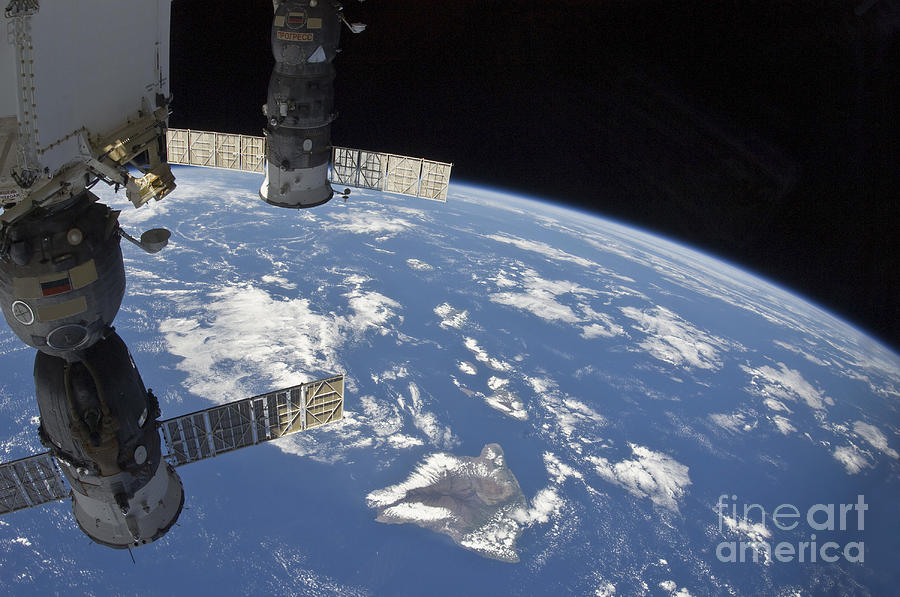 Outer Space Photograph - View From Space Showing Part by Stocktrek Images