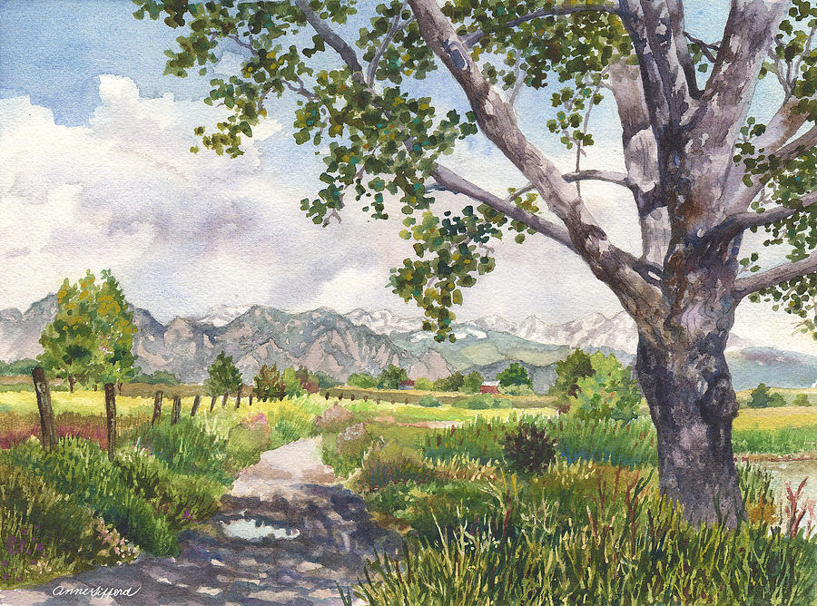 View From Stearns Lake Painting by Anne Gifford