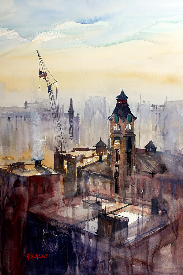 View From The 14th Floor - Milwaukee Painting