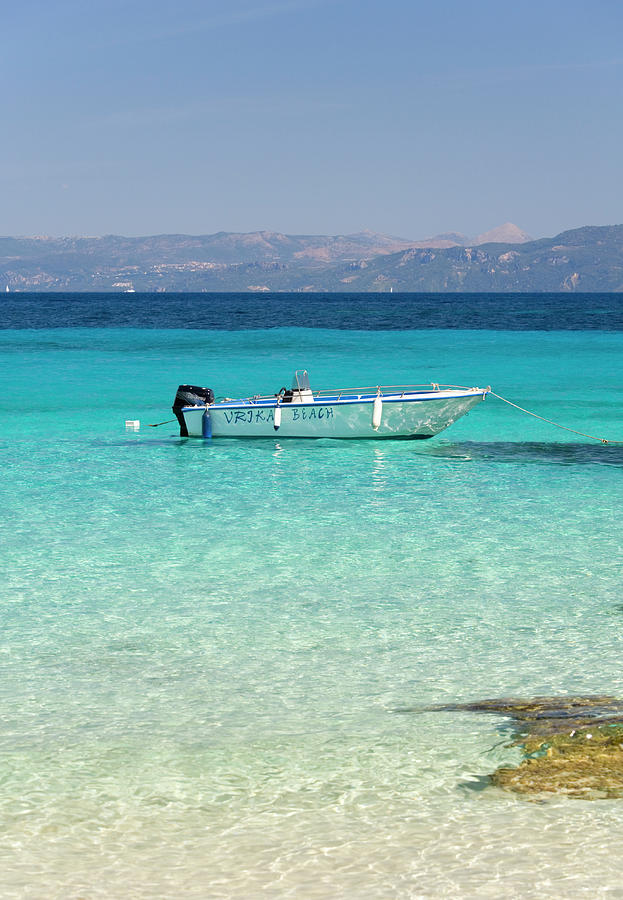 View From The Beach, Vrika Bay Photograph by David C Tomlinson