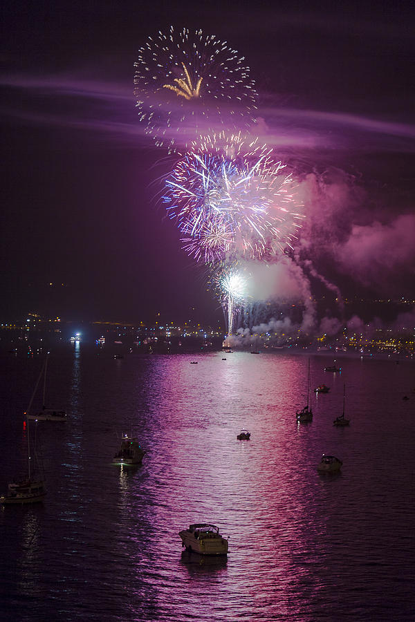 Fireworks Photograph - View From The Deck by Scott Campbell