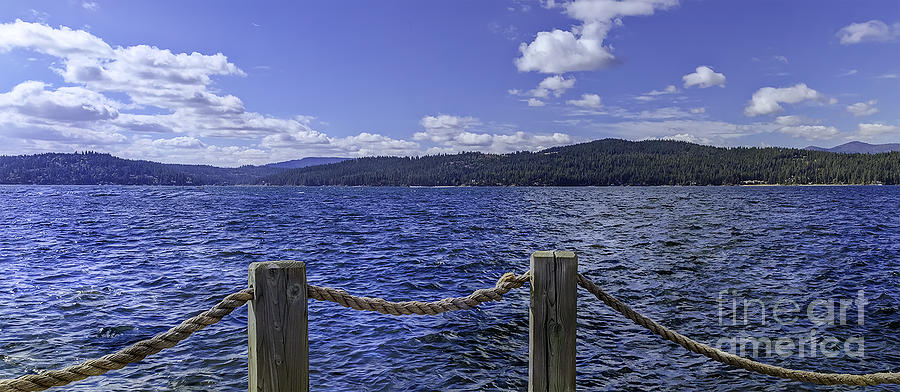 Blue Photograph - View From The Dock by Nancy Marie Ricketts